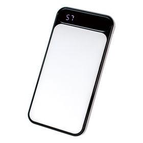 【ホワイト】 モバイルバッテリー 2ポート 10000mAh...