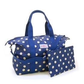 [CathKidston]ボストンバッグ FOLDAWAY OVERNIGHT BAG(ネイビー) | 旅行やジムバッグとして◎コンパクトに折りたたんで持ち運べるポケッタブル仕様!