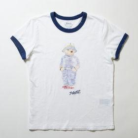 Sサイズ【RalphLauren】Tシャツ NATURAL POLO BEAR ホワイト | ポロベアがとっても愛らしいTシャツ!随所に施されたダメージ加工も◎