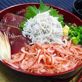 海鮮丼セット(マグロ、カツオ、桜えび、しらす)