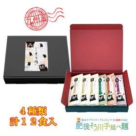 【12食入(180g×6袋)】手延べ九州野菜そうめんセットく...