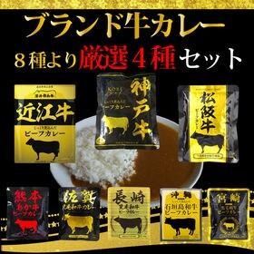 【4食】 ブランド牛 カレー8種より厳選4種4食セット<松阪...