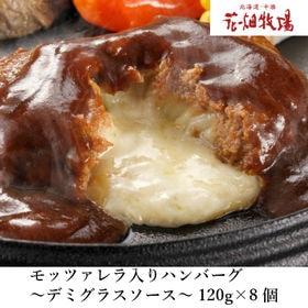 【120g×8個】花畑牧場モッツァレラチーズ入りハンバーグ(...