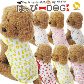 【チェリー:ピンク/L】犬 服 犬服 犬の服 タンクトップ