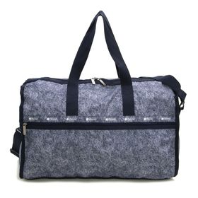 [LeSportsac]ボストンバッグ ネイビー DELUXE LG WEEKENDER | 旅行には欠かせないボストンバッグ!キャリーバーに通せるポケット付きでサブバッグとしても◎