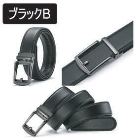 【ブラック・B】メンズ オートロック式ベルト 黒 自動ベルト...