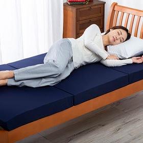 [セミダブル/ネイビー] 低高反発マットレス メディカルスリーパー グランデ ハイブリット※日本製 | お好みの寝心地に合わせて選べる!低反発と高反発のリバーシブルマット!