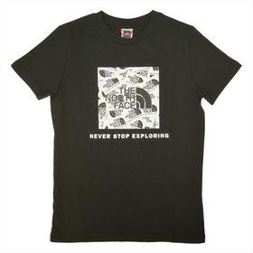 【ブラック/ユースXLサイズ】[THE NORTH FACE]Tシャツ Y S/S BOX TEE | 定番ボックスロゴをアップデートしました!他の人とかぶりたくないあなたに♪