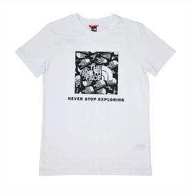 【ホワイト/ユースLサイズ】[THE NORTH FACE]Tシャツ Y S/S BOX TEE | 定番ボックスロゴをアップデートしました!他の人とかぶりたくないあなたに♪