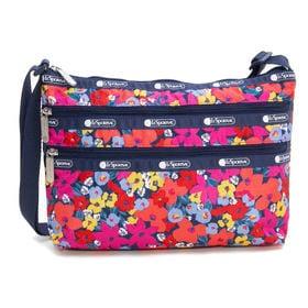[LeSportsac]ショルダーバッグ QUINN BAG(ピンク) | 豊富なポケットで小物もすっきり収納!日常使いにオススメ♪