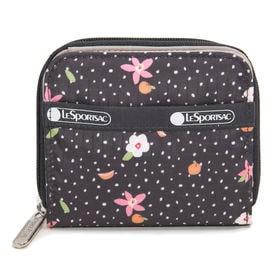 [LeSportsac]財布 CLAIR WALLET ブラック | 丈夫で使い勝手の良い折り財布!豊富なカードポケットで収納力抜群♪