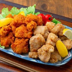 【計4kg】若鶏唐揚げ&竜田揚げセット(レンジ調理可) | お弁当や晩御飯のおかずに便利な油調理済みの鶏唐揚げと竜田揚げの食べ比べセットです。