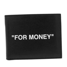 【BLACK】オフホワイト 二つ折り財布 OMNC008R2...