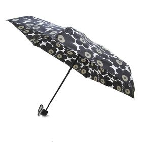 [marimekko]折り畳み傘 MINI MANUAL MINI UNIKKO ブラック | 雨の日のおでかけも楽しくなりそう♪