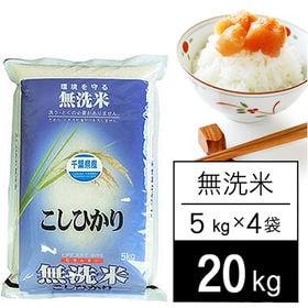 【20kg】 令和2年産 千葉県産 コシヒカリ 無洗米 5k...