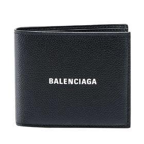 【色:BLACK/L WHITE】バレンシアガ 二つ折り財布...