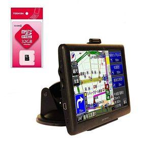 7インチワンセグチューナー/GPS内蔵ナビ+マイクロSDカー...