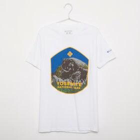 メンズMサイズ【Columbia】Tシャツ PRINT S/S TEE ホワイト | 大胆なプリントでこれ一枚でコーディネイトの主役に!