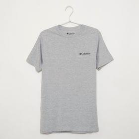 メンズSサイズ【Columbia】Tシャツ PRINT S/S TEE グレー | バックスタイルもサマになる一枚!着心地の良さも◎