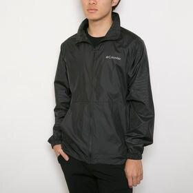 メンズLサイズ【Columbia】ジャケット WIND BREAKER JACKET ブラック | 肌寒いときに気軽に羽織れるウインドブレーカー!