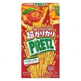 【4箱セット】グリコ 超カリカリプリッツ<クリスピーピザ味>