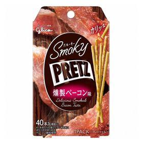 【4箱セット】グリコ スモーキープリッツ<燻製ベーコン味>