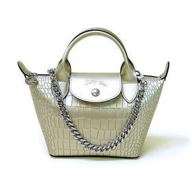 [Longchamp]ハンドバッグ LE PLIAGE CUIR MINI HANDBAG(ゴールド | OLに大人気の「ル・プリアージュ」が登場!ちょっとしたお出かけにぴったりのミニサイズ!