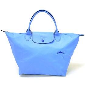 [Longchamp]ハンドバッグM LE PLIAGE CLUB HANDBAG M(サックス) | 大人気の「ル・プリアージュ」が登場!A4サイズが収納できるMサイズ♪