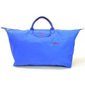 [Longchamp]ボストンXL LE PLIAGE CLUB TRAVEL BAGXL(ブルー) | OLに大人気の「ル・プリアージュ」が登場!折りたたんで持ち運べるのでサブバッグとしても◎