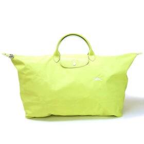 [Longchamp]ボストンXL LE PLIAGE CLUB TRAVEL BAG(イエロー) | OLに大人気の「ル・プリアージュ」が登場!折りたたんで持ち運べるのでサブバッグとしても◎