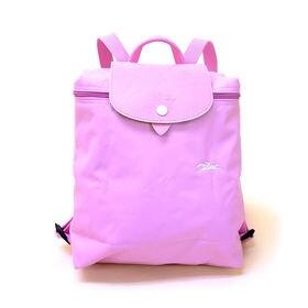 [Longchamp]バックパック LE PLIAGE CLUB BACKPACK (ピンク) | 随所にアクセントカラーを効かせた「ル・プリアージュ・クラブ」のバックパック♪