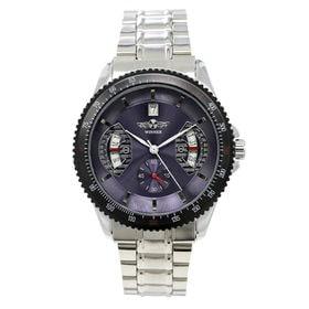 自動巻き腕時計 カラフルフェイス ギョーシェ 日付カレンダー ATW007-BLST メンズ腕時計 | 手巻き機能付き自動巻腕時計 保証付き