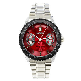 自動巻き腕時計 カラフルフェイス ギョーシェ 日付カレンダー ATW007-RDST メンズ腕時計 | 手巻き機能付き自動巻腕時計 保証付き