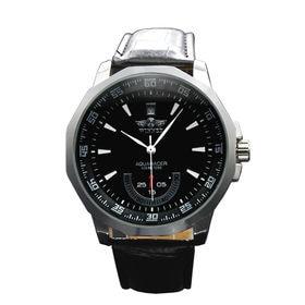 自動巻き腕時計 カラフルフェイス 日付カレンダー ATW008-BLK メンズ腕時計 | 手巻き機能付き自動巻腕時計 保証付き