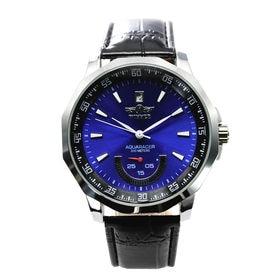 自動巻き腕時計 カラフルフェイス 日付カレンダー ATW008-BLU メンズ腕時計   手巻き機能付き自動巻腕時計 保証付き