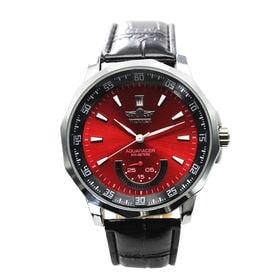 自動巻き腕時計 カラフルフェイス 日付カレンダー ATW008-RED メンズ腕時計 | 手巻き機能付き自動巻腕時計 保証付き