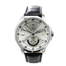 自動巻き腕時計 カラフルフェイス 日付カレンダー ATW008-SLV メンズ腕時計 | 手巻き機能付き自動巻腕時計 保証付き