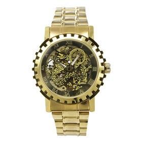 自動巻き腕時計 ゴールドカラーフルスケルトン腕時計 ATW014-GLD メンズ腕時計 | 手巻き機能付き自動巻腕時計 保証付き
