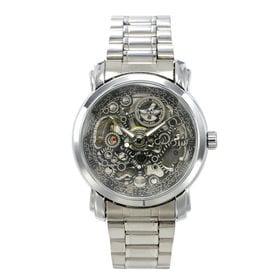 自動巻き腕時計 ミッドサイズのフルスケルトン腕時計 ATW016-SLV メンズ腕時計   手巻き機能付き自動巻腕時計 保証付き