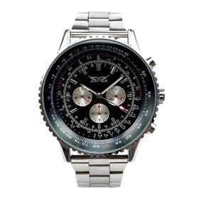 自動巻き腕時計 ビッグケース回転ベゼル腕時計 日付カレンダー ATW018-BKST メンズ腕時計   手巻き機能付き自動巻腕時計 保証付き