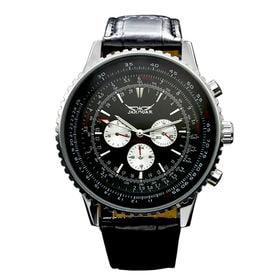 自動巻き腕時計 ビッグケース回転ベゼル腕時計 日付カレンダー ATW018-BLK メンズ腕時計 | 手巻き機能付き自動巻腕時計 保証付き