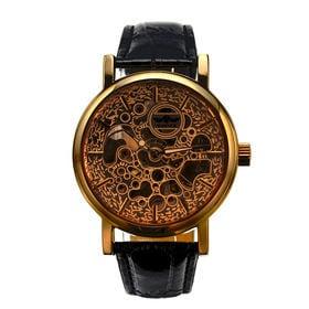 自動巻き腕時計 ゴールドケース フルスケルトン腕時計 ATW021-GLD メンズ腕時計   手巻き機能付き自動巻腕時計 保証付き