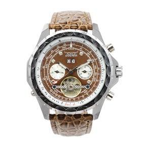 自動巻き腕時計 トリプルカレンダー テンプスケルトン 回転ベゼル ATW029-BRW メンズ腕時計 | 手巻き機能付き自動巻腕時計 保証付き