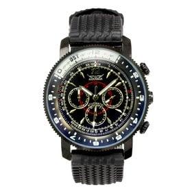 自動巻き腕時計 無反射コーティング 日付カレンダー ATW030-BKBK メンズ腕時計 | 手巻き機能付き自動巻腕時計 保証付き