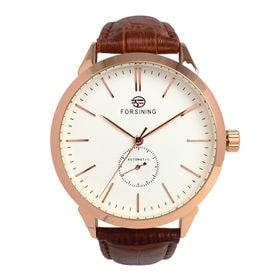 自動巻き腕時計 上品シンプル腕時計 きれいめ クラシック ATW032-PGWH メンズ腕時計   手巻き機能付き自動巻腕時計 保証付き