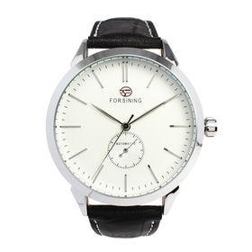 自動巻き腕時計 上品シンプル腕時計 きれいめ クラシック ATW032-SVWH メンズ腕時計   手巻き機能付き自動巻腕時計 保証付き