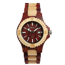 木製腕時計 日本製ムーブメント 日付カレンダー 軽い 軽量 WDW001-01 | レディース腕時計 保証付き