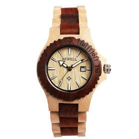 木製腕時計 日本製ムーブメント 日付カレンダー 軽い 軽量 WDW001-02 | レディース腕時計 保証付き