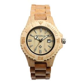 木製腕時計 日本製ムーブメント 日付カレンダー 軽い 軽量 WDW001-03 | レディース腕時計 保証付き