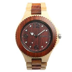 木製腕時計 天然素材 安心の天然素材 軽い 軽量 WDW002-03 | メンズ腕時計 保証付き